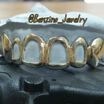 Open Faced 14K Gold Teeth Grillz
